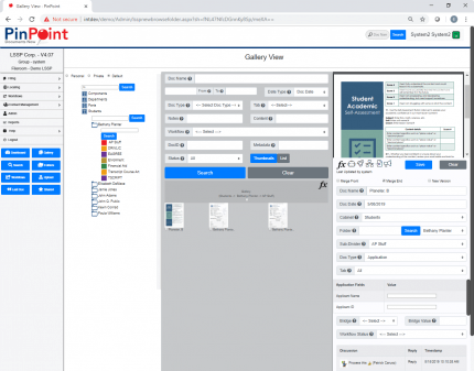 Document Management Software - PinPoint Gallery View