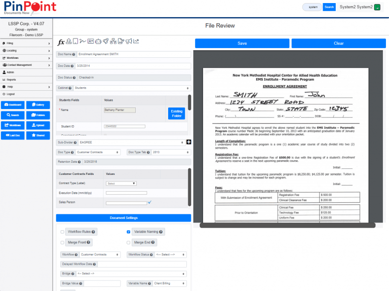 File Review - PinPoint Document Management Software