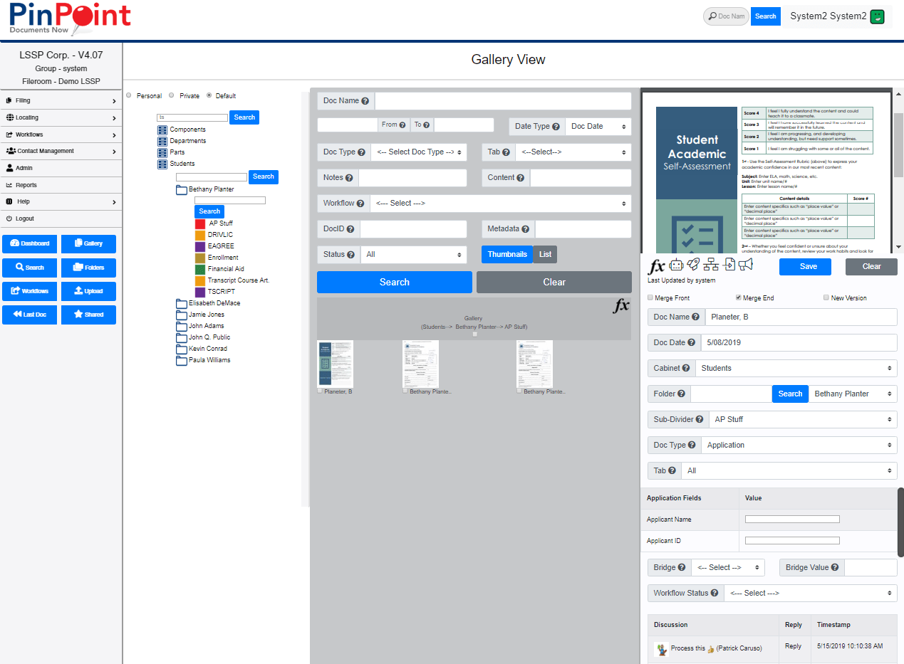 Gallery View - PinPoint Document Management Software